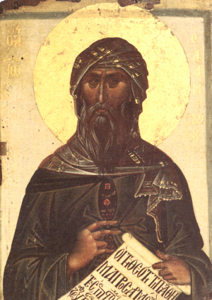 Icon showing John of Damascus (early 14th century)